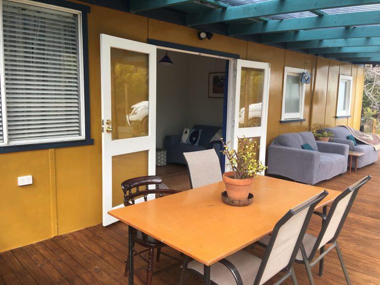 Rear deck/reading room.